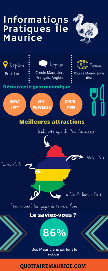 Infographie île maurice quoifairemaurice informations pratiques île maurice
