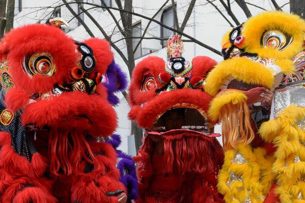 danse du lion chinoise